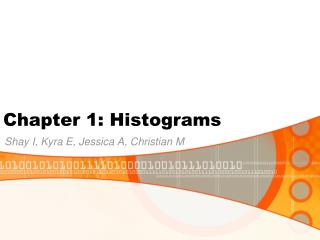 Chapter 1: Histograms