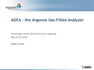 AGFA – the Argonne Gas-Filled Analyzer