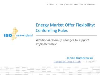 March 13, 2014  |  NEPOOL markets committee