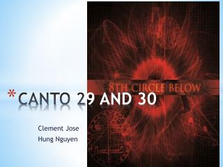 CANTO 2 9 AND 30