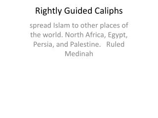 Rightly Guided Caliphs