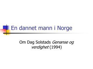 En dannet mann i Norge