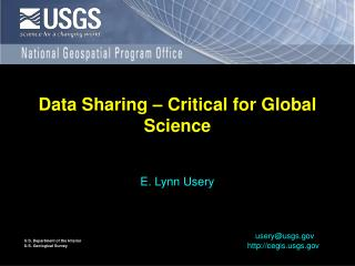 Data Sharing – Critical for Global Science
