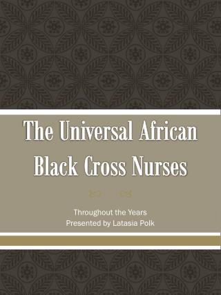 The Universal African Black Cross Nurses
