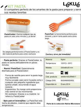Pasta perfecta:  Gracias al  PastaCooker , la pasta se  cocina delicadamente  en  pocos minutos