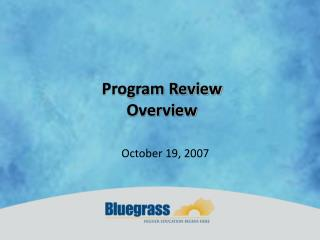Program Review Overview