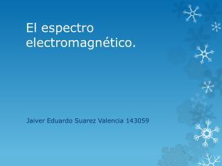 El espectro electromagnético.