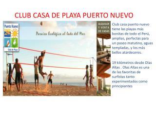 CLUB CASA DE PLAYA PUERTO NUEVO