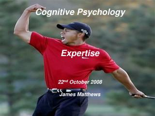 Cognitive Psychology    Expertise   22nd October 2008  James Matthews