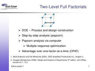 Two-Level Full Factorials