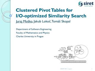 Clustered Pivot Tables for I/O-optimized Similarity Search