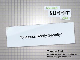 Business Ready Security