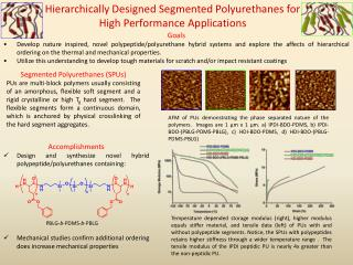Hierarchically Designed Segmented Polyurethanes for High Performance Applications