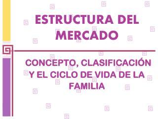 ESTRUCTURA DEL MERCADO CONCEPTO, CLASIFICACIÓN Y EL CICLO DE VIDA DE LA FAMILIA