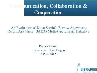 Communication, Collaboration & Cooperation