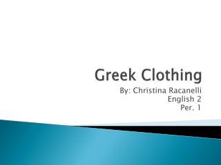 Greek Clothing