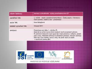 Vy_32_INOVACE_Čj.1.03-Čtení písmen , slabik   a slov-prezentace