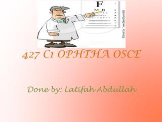 427 C1 OPHTHA OSCE