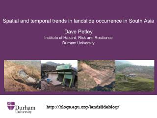 Spatial and temporal trends in landslide occurrence in South Asia