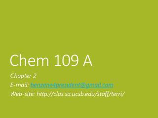Chem  109 A