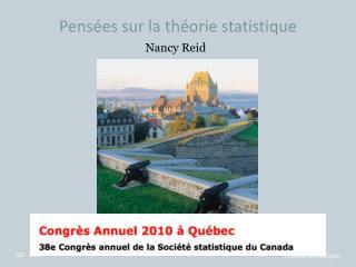 Pensées sur la théorie statistique