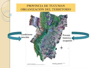 PROVINCIA DE TUCUMAN ORGANIZACIÓN DEL TERRITORIO
