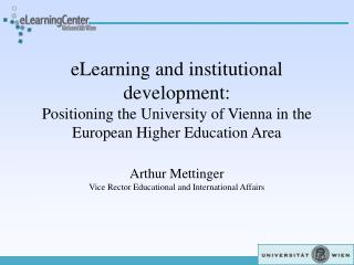 eLearning and institutional development: Positioning the ...