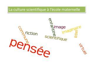 La culture scientifique à l'école maternelle
