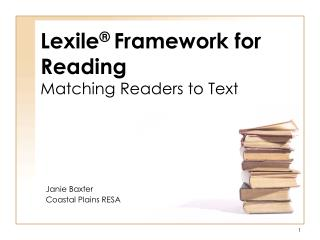 Lexile  Framework for Reading Matching Readers to Text