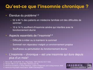 Qu'est-ce que l'insomnie chronique ?
