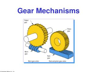 Gear Mechanisms