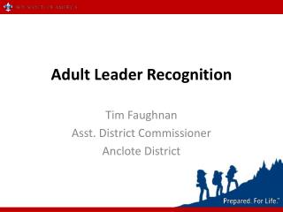 Adult Leader Recognition