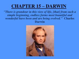 CHAPTER 15 –  DARWIN