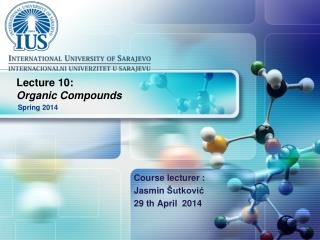 Lecture  10 : Organic Compounds