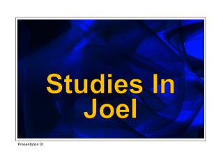 Studies In Joel