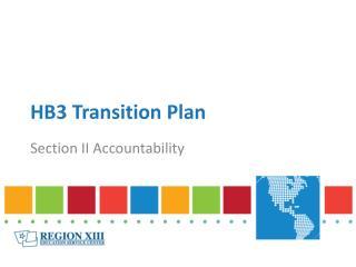 HB3 Transition Plan