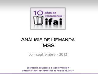 Análisis de  Demanda IMSS