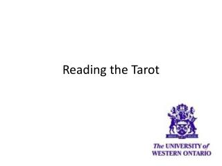 Reading the Tarot