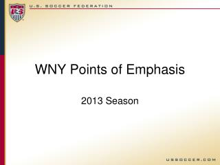WNY Points of Emphasis