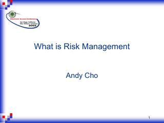 What is Risk Management   Andy Cho