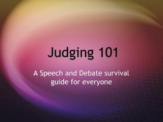 Judging 101
