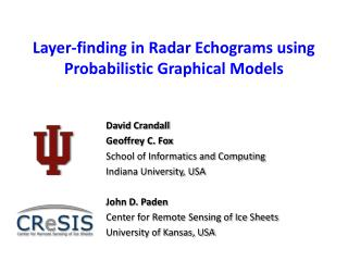Layer-finding in Radar Echograms using Probabilistic Graphical Models