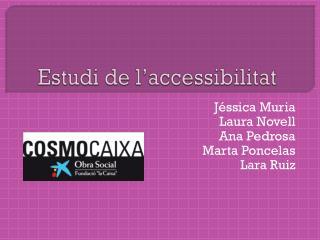 Estudi de l'accessibilitat