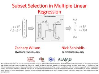 Subset Selection in Multiple Linear Regression