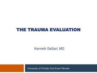 The Trauma Evaluation
