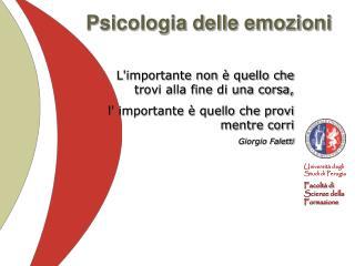 Psicologia delle emozioni