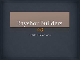 Bayshor Builders