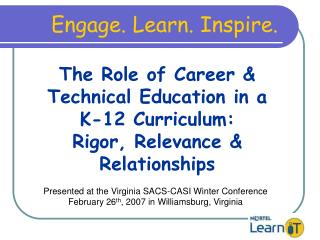 The Role of Career  Technical Education in 21st Century ...