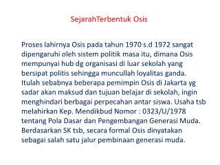 SejarahTerbentuk Osis