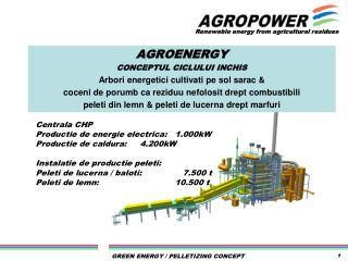 AGROENERGY  CONCEPTUL CICLULUI INCHIS  Arbori energetici cultivati pe  sol  sarac  &